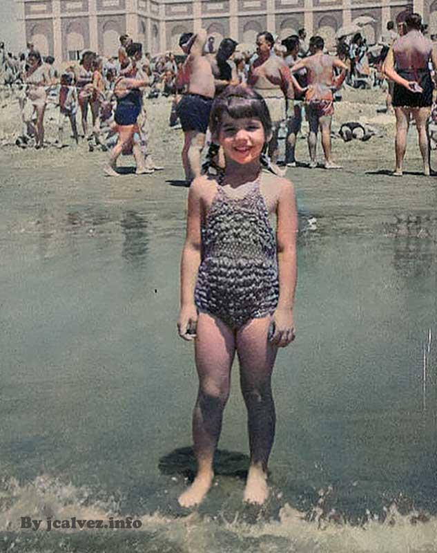 Susana Gimenez de niña en Mar del Plata